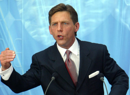David Miscavige, Supreme Leader of the Scientology Sea Organization for life and answerable to no one.