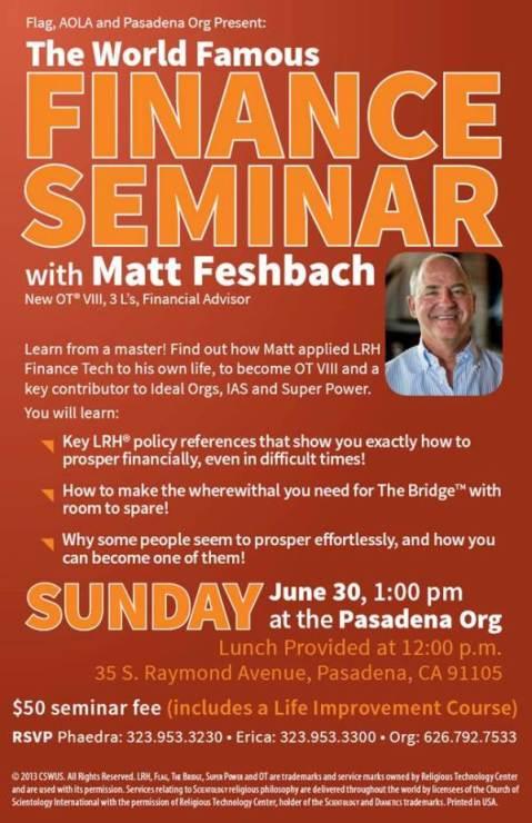 Matt Feshbach Finance Seminar