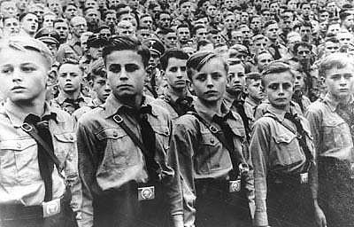 1930's image of Hitler youth